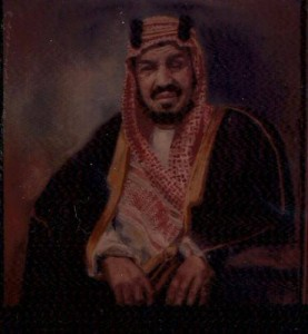 King Abdelaziz portrait